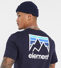 Element Joint T Shirt In Navy Exclusive At Asos