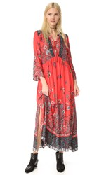 Free People If You Only Knew Dress Red