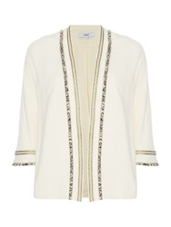 Suncoo Dario Embellished Collar Jacket Cream