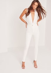 Missguided Tall Highwaisted Superstretch Skinny Jeans White