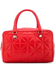 Sonia Rykiel Quilted Trunk Bag Red