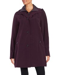 Gallery Plus Hooded Raincoat Blackberry