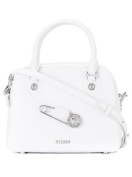 Versus Oversized Pin Detail Tote White
