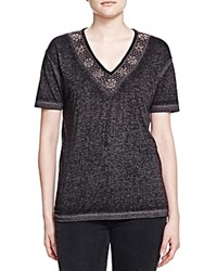 The Kooples Embellished Burnout Tee Gray