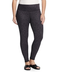 Balance Reversible Lace Print Capri Leggings Printed Black