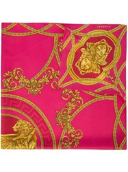 Versace Baroque Print Scarf Pink