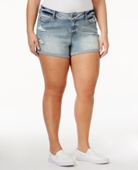 American Rag Trendy Plus Size Ripped Denim Shorts Only At Macy's Stockton Wash