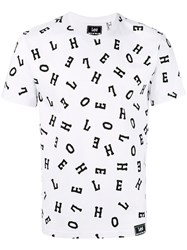 House Of Holland Letter Print T Shirt Men Cotton M White