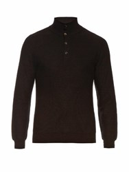 Brioni High Neck Cashmere Sweater Black