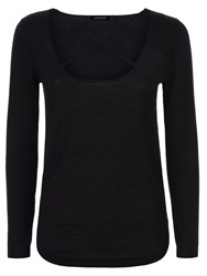 Jaeger Donna Ida For Miss Vivian Cashmere Jumper Noir