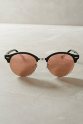 Anthropologie Ray Ban Clubround Mirrored Sunglasses Pink