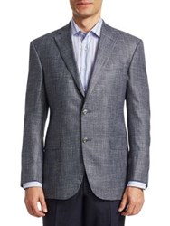 Saks Fifth Avenue Collection Bamboo Sport Jacket Blue