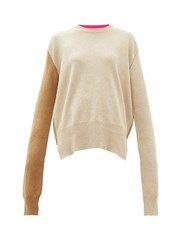 La Fetiche Louis Two Tone Wool Sweater Camel