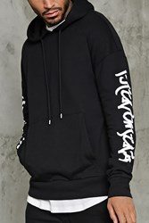 Forever 21 Phenomenal Graphic Hoodie Black White