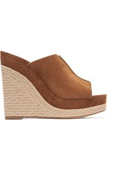 Michael Kors Charlize Suede Wedge Sandals