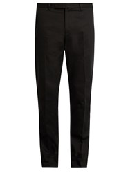 Valentino Slim Leg Cotton Chino Trousers Black