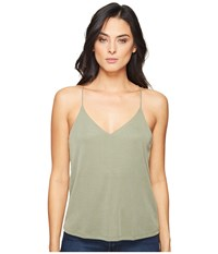 Splendid Sandwash Rib Cami Moss Women's Sleeveless Green