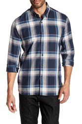 Peter Werth Britton Plaid Trim Fit Shirt Blue