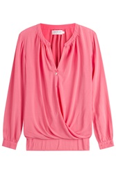 Velvet Draped Blouse Rose