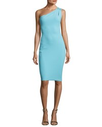 La Petite Robe Di Chiara Boni Ubah Studded One Shoulder Cocktail Dress Aquamarine