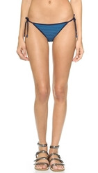 Marc By Marc Jacobs Radioactive Stripe String Bikini Bottoms Deep Blue Multi