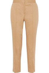 By Malene Birger Santsi Cotton Blend Poplin Tapered Pants Ecru
