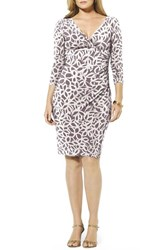 Plus Size Women's Lauren Ralph Lauren Print Faux Wrap Jersey Dress