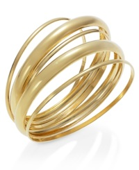 Alfani Gold Tone Link Ring Bangle Bracelet
