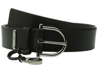 Michael Michael Kors 35Mm Veg Leather Belt On Mk Harness Buckle With Logo Drop Luggage Women's Belts Brown
