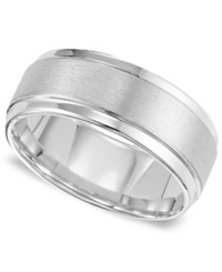 Triton Men's White Tungsten Carbide Ring Comfort Fit Wedding Band 9Mm