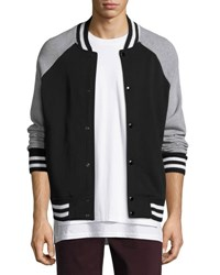 Rag And Bone Arden Varsity Jacket Black Gray Black Gray