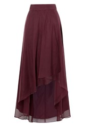 Coast April Organza Hi Lo Skirt Merlot