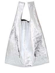 Maison Martin Margiela Metallic Faux Leather Tote Bag