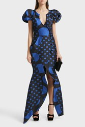 Ronald Van Der Kemp Sculptural Silk Blend Wrap Gown
