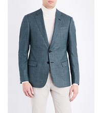 Armani Collezioni Regular Fit Wool Blend Jacket Green