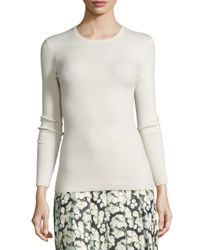 Adam By Adam Lippes Long Sleeve Open Back Sweater Ivory