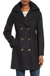 Michael Michael Kors Women's Long Double Breasted Peacoat