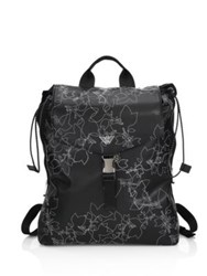 Emporio Armani Stitched Faux Leather Backpack Black