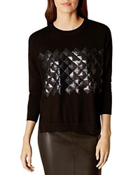 Karen Millen Sequin Embellished Sweater Black
