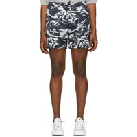 Mcq By Alexander Mcqueen Navy And White Holiday Shorts