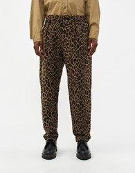 Engineered Garments Carlyle Leopard Jacquard Pant Brown