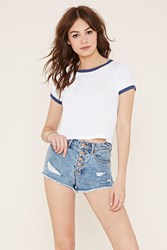 Forever 21 High Waisted Denim Cutoffs