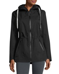 Laundry By Shelli Segal Hooded Zip Front Performance Jacket Black