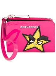 Dsquared2 Punk Patch Purse Pink And Purple