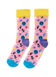 Happy Socks Peace And Love Multi Colour