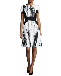 Yoana Baraschi Crewneck Printed Fit And Flare Dress