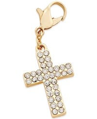 Thalia Sodi Gold Tone Crystal Cross Clip On Charm Only At Macy's