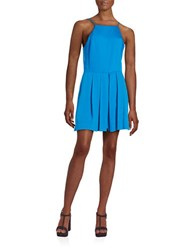 1.State Pleated Square Neck Sleeveless Romper Matisse Blue