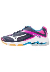 Mizuno Wave Lightning Z3 Volleyball Shoes Peacoat White Pink Glow Blue
