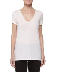 Skin Sexy V Neck Jersey Tee Powder